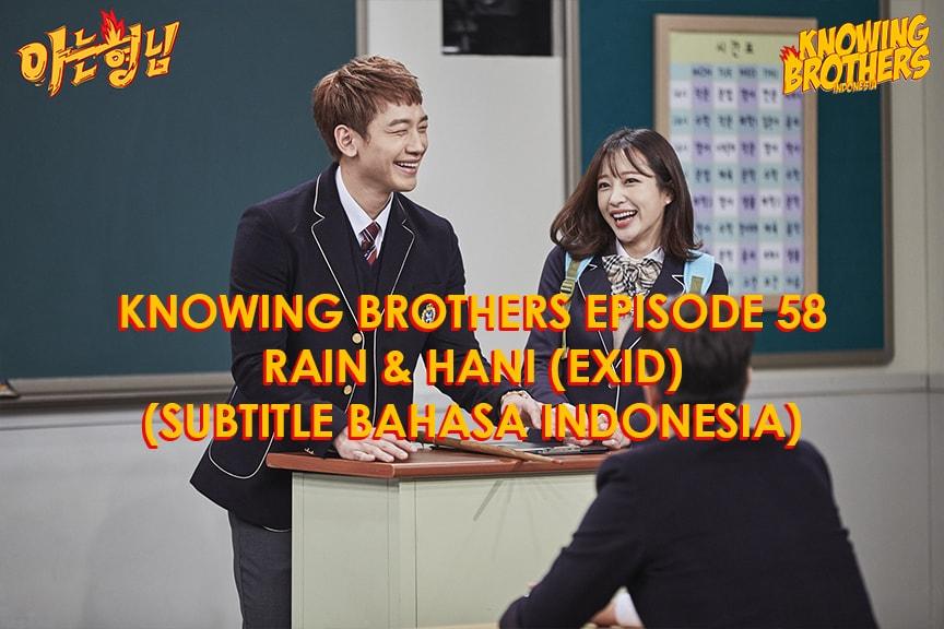 Knowing Brothers eps 58 – Rain & Hani